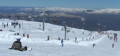 Esquiando en Manzaneda (Ourense)