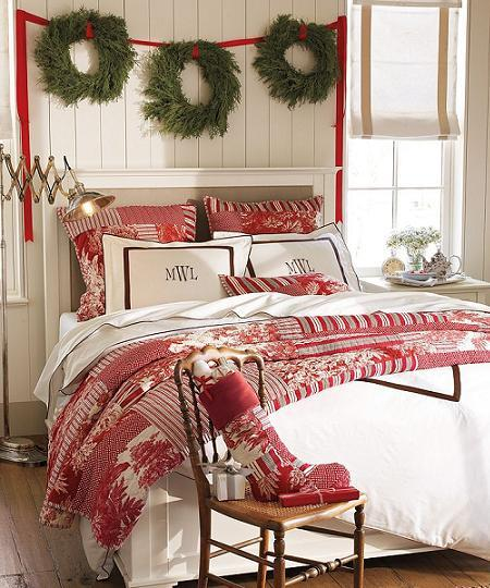 dormitorios decorados por navidad paperblog