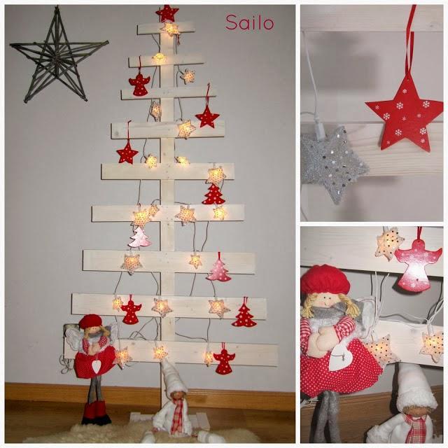 Diy el rbol de navidad de madera de sailo paperblog - Arboles de navidad de madera ...