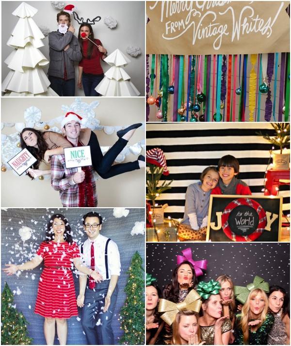 ideas para un photocall navide o christmas photo booth