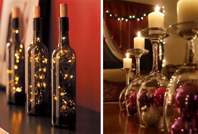 Adorna la mesa para estas fiestas paperblog - Centro de navidad con velas ...