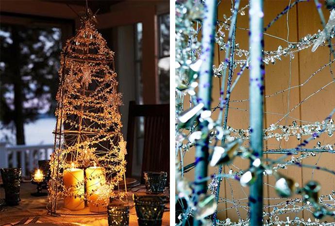 Adorna la mesa para estas fiestas paperblog - Centros navidenos caseros ...