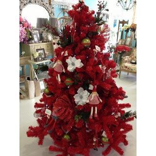 lindos rboles de navidad en color rojo