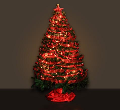 Lindos rboles de navidad en color rojo paperblog - Fotos arbol navidad decorados ...
