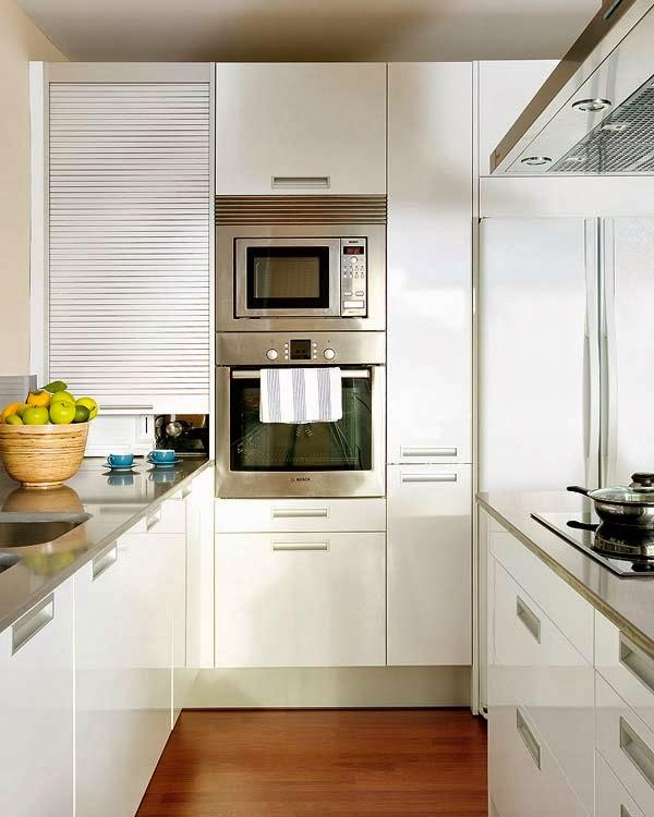 Cocina de escasos 16 m con isla y office paperblog for Mueble isla cocina