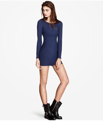 Vestido azul para nochevieja