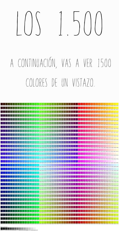 Cuantos colores existen paperblog for Cuantos codones existen