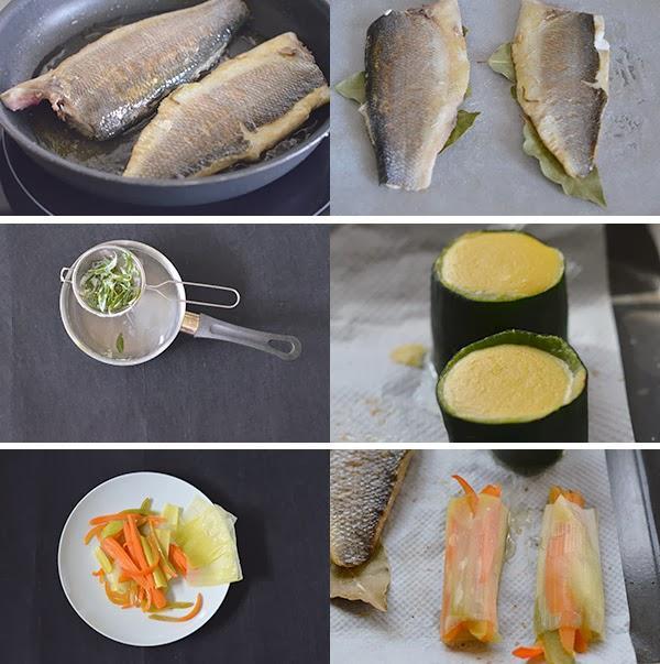 Lubina al horno con salsa de pimienta crema de ma z y - Salsa para verduras al horno ...