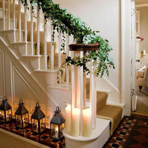 Ideas para Decorar la Escalera en Navidad - Paperblog