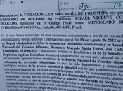 Denunciado Rafael Correa Colombia