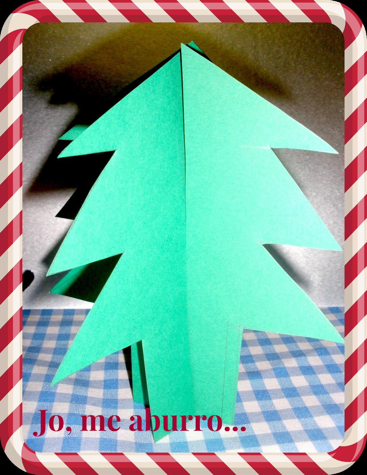 Rbol de navidad con cartulina paperblog - Arbol navidad cartulina ...