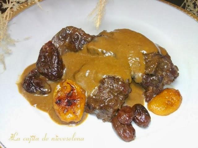 Carrilleras de ternera a la vainilla y salsa oporto con - Carne con ciruelas pasas ...