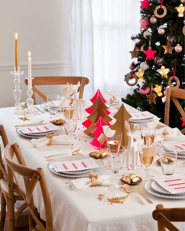 Inspiraci n navide a decoraci n en la mesa de navidad - Decoracion de mesa en navidad ...