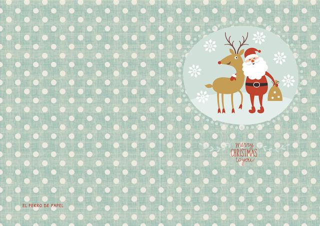 Felicitaciones de Navidad Imprimibles Gratis - Paperblog