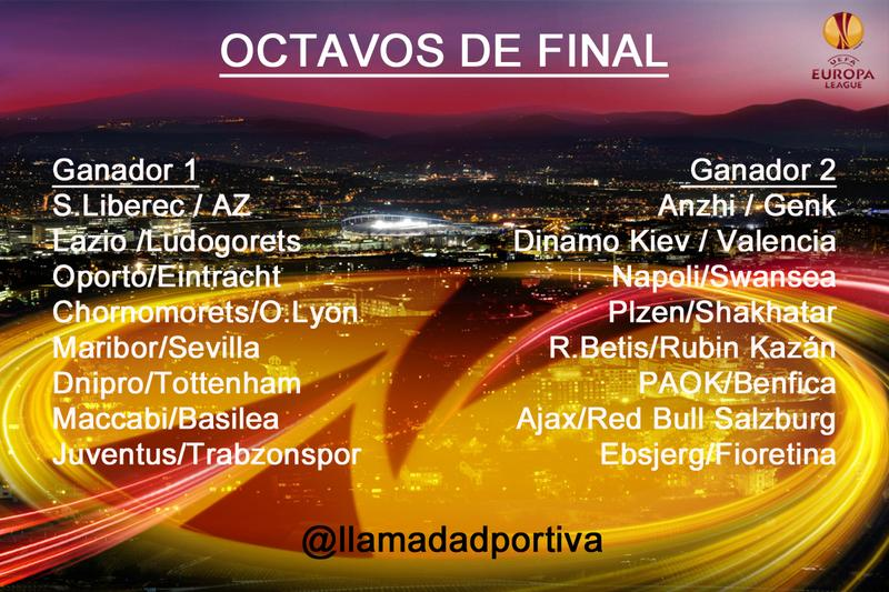 Dieciseisavos y octavos de final de la Europa League.