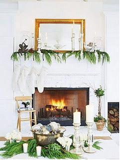 Salas con chimeneas decoradas para navidad Paperblog