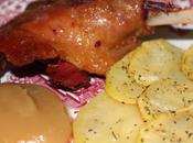Confit pato compota manzana patatas provenzal