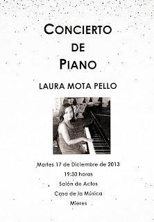 Laura Mota Pello: un regalo al piano