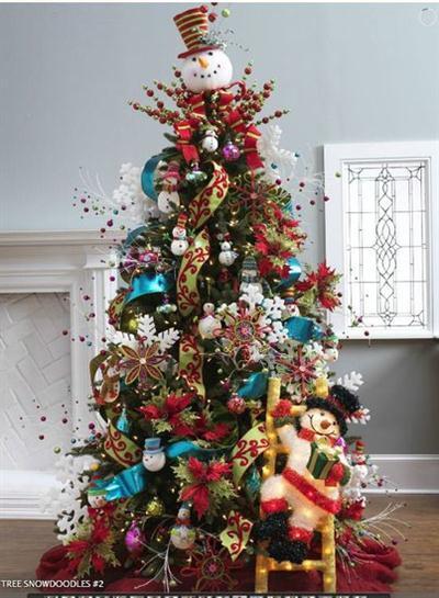 Fotos lindos rboles de navidad decorados paperblog for Muebles decorados de navidad
