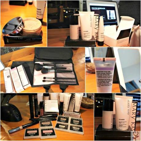 Productos  Mary Kay de la sesión de maquillaje