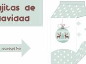 Plantilla Caja Brick Leche Navidad
