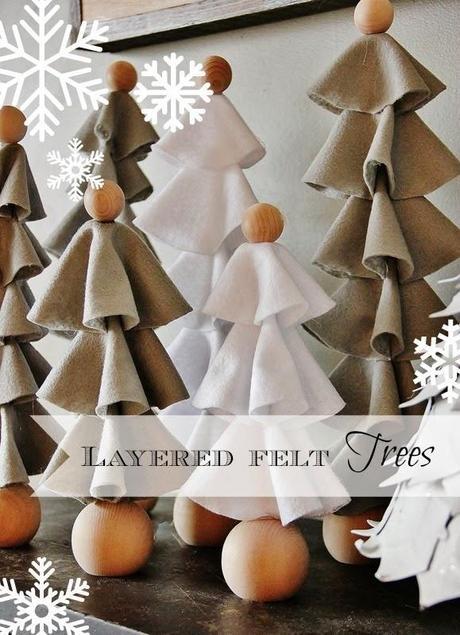 Diy arboles de navidad con fieltro paperblog for Bolas navidad fieltro