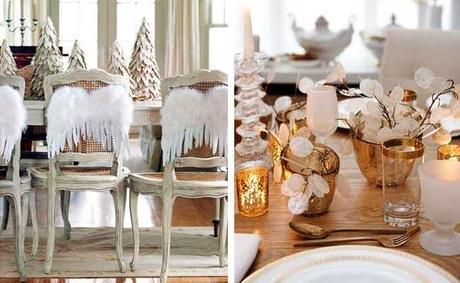 Lindas mesas navide as en dorado paperblog for Imagenes de mesas navidenas