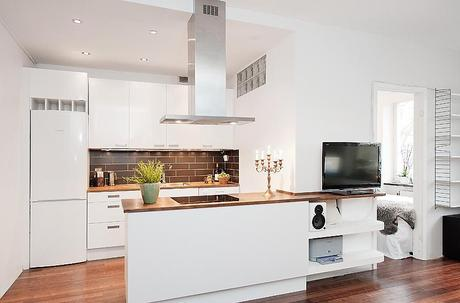 Lindas cocinas integradas con la sala paperblog for Cocinas integradas