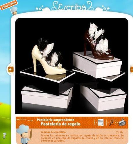 Zapatos de chocolate de Escribá Barcelona - Ideas para cotillón de fin de año