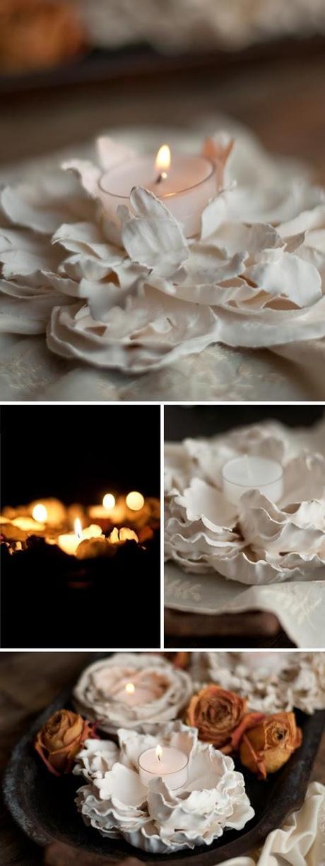 Soportes artesanales para velas paperblog - Soporte para velas ...