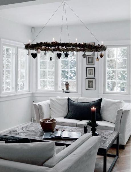 Decoracin en blanco y gris para una nrdica Navidad Paperblog