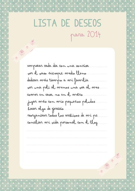 Lista De Deseos Para El 2014 Paperblog