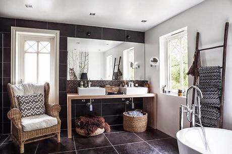 Un baño con elegantes elementos etnicos - Paperblog