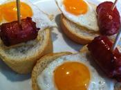 Ideas para aperitivo Canapé huevo chistorra