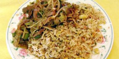 receta carne mongoliana arroz chaufán