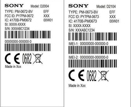 Sony D2004 y Sony D2014.