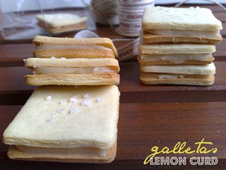 galletas sandwich de lemon curd
