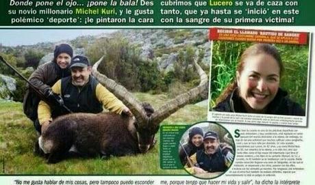 Polémicas fotos de caza de la cantante Lucero junto a su pareja