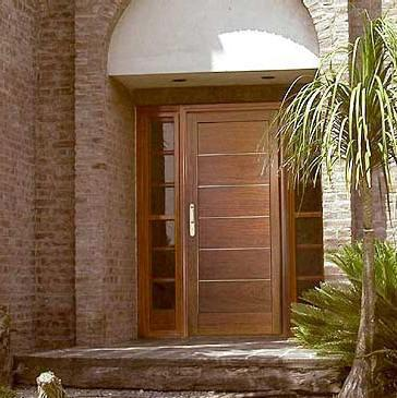 Puertas estilos modelos funciones de las puertas for Puertas macizas exterior