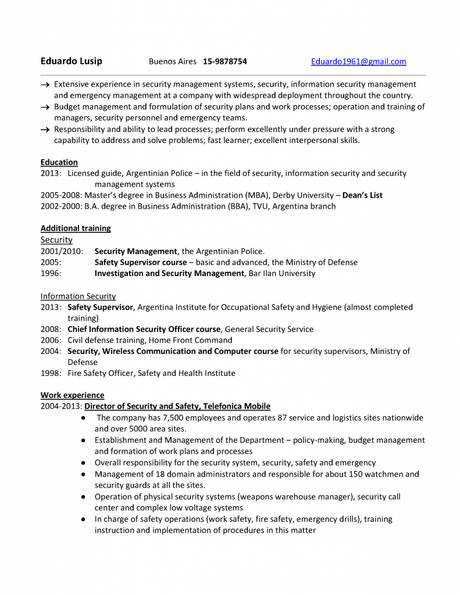resume security management pagina 01
