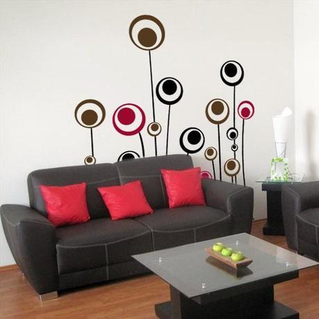 Lindos vinilos decorativos para tu sala paperblog - Vinilos decorativos para salon ...
