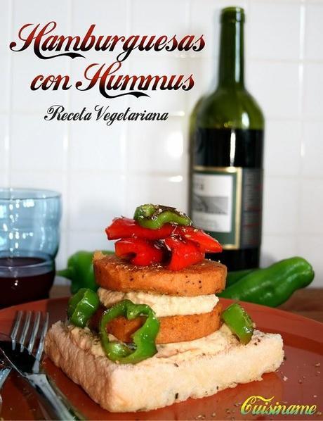 Torre de hamburguesas con hummus y pimiento receta for Blogs cocina vegetariana
