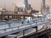 SkyCycle ciclovías aéreas encima tren Londres