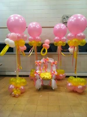 ideas de decoraci n baby shower para ni a en globos