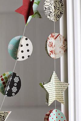 guirnaldas para navidad hechas a mano paperblog