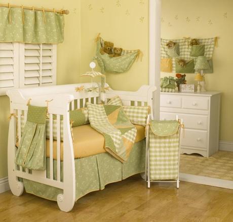 Bellos cuartos de beb en color verde paperblog - Habitaciones de bebes decoracion ...