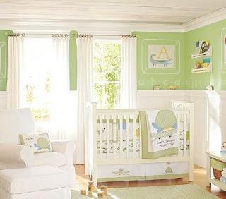 Bellos cuartos de beb en color verde paperblog - Colores para habitaciones de bebe ...