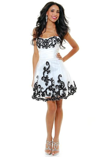 Vestidos fiesta blanco negro