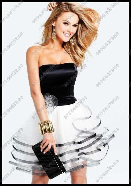 Vestidos para fiesta de blanco y negro