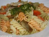 Fusilli verduras pesto